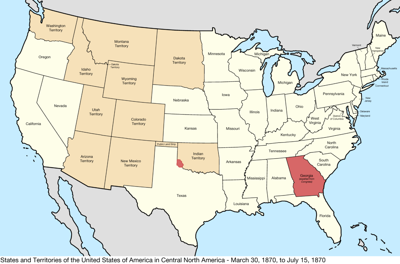 Map Of Us In 1870.File United States Central Map 1870 03 30 To 1870 07 15 Png Wikipedia