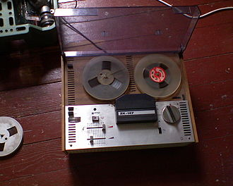 Reel-to-reel audio tape recording - Unitra ZK-147, a vintage Polish-made reel-to-reel tape recorder