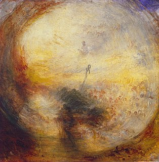 <i>Light and Colour (Goethes Theory) – The Morning after the Deluge – Moses Writing the Book of Genesis</i> painting by William Turner