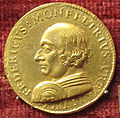 Urbino, medaglia di federico da montefeltro coniata in oro.JPG