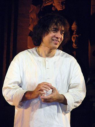Zakir Hussain (musician) - Image: Ustad Zakir Hussain 1