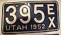 Utah 1952 license plate.jpg