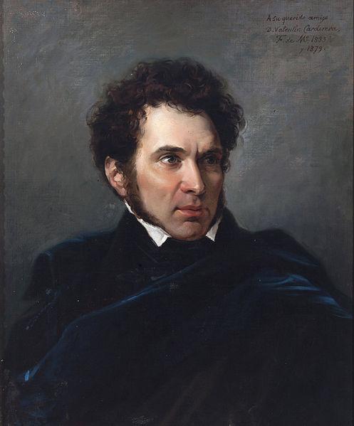 Retrato de 'Valentín Carderera' - obra de Federico de Madrazo hacia 1833 - Museo de Huesca (Inventario: 00046)