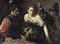 Valentin de Boulogne - David with the Head of Goliath and Two Soldiers - WGA24236.jpg