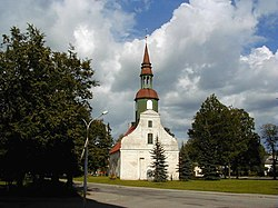 Lugaži Lutheran Church in Valka.