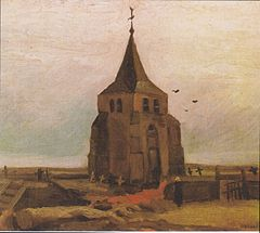 Old Church Tower at Nuenen, May 1884, oil on canvas on panel, Foundation E.G. Bührle Collection, Zürich (F88, JH490)