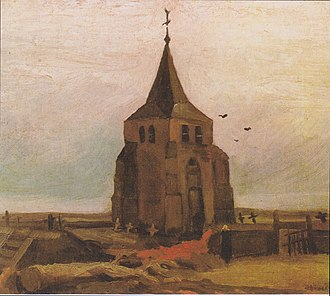 Old Church Tower at Nuenen - Old Church Tower at Nuenen ('The Peasants' Churchyard), 1884, Foundation E.G. Bührle Collection, Zürich (F88)