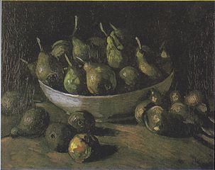 Still Life with a Stone Bowl with Pears