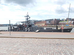R-class patrol boat - Röyttä, now known as Vartiovene 55, in her current home port Helsinki.