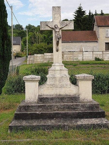 Vauxaillon (Aisne) croix de chemin