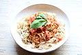 Vegan glutenfree Italian pasta (36804630150).jpg