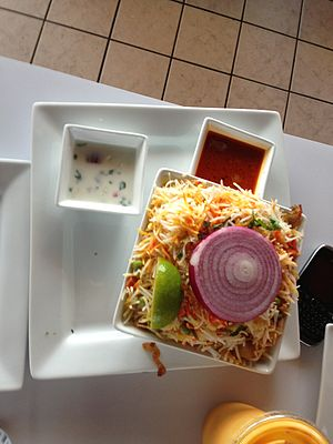 Biryani - Hyderabadi vegetable biryani served in Tampa, U.S.