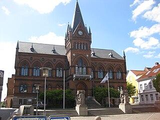 Vejle Town in Southern Denmark, Denmark
