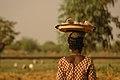 Erdnussverkäuferin in Burkina-Faso