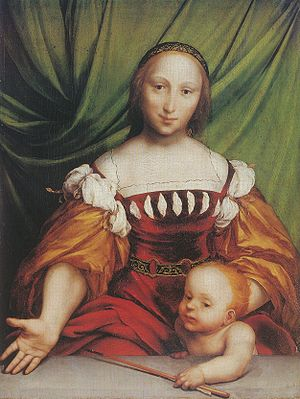 Venus and Amor - Image: Venus and Amor, by Hans Holbein the Younger