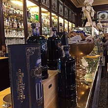 Vermouth served in a fashionable cafe in Turin.