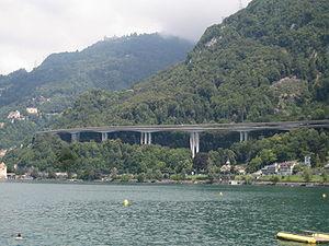 Veytaux - Image: Viaduc de Chillon