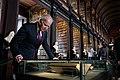 Vice President Joe Biden looks at James Joyce manuscripts in the Trinity College Library.jpg