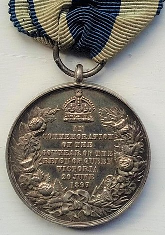 Queen Victoria Diamond Jubilee Medal - Image: Victoria Diamond Jubilee Medal, reverse