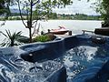 View from hot tub at Long Lake Waterfront B^B Nanaimo BC - panoramio.jpg