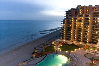 Puerto Peñasco - Image: View from our condo at twilight