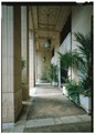 View looking northeast in portico - Alexander and Baldwin Building, 822 Bishop Street, Honolulu, Honolulu County, HI HABS HI-531-5 (CT).tif