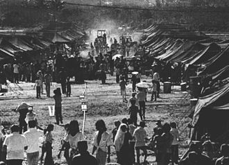 """Operation New Life - """"Tent City"""" at Orote Point, Guam."""