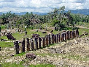 "Ritual purification - El Infiernito (""The Little Hell"") Ruins of an ancient Muisca shrine, place of purification rituals"