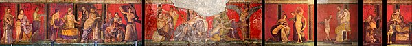 Villa of the Mysteries (Pompeii) - frescos 01.jpg