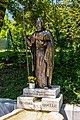 Villach Obere Fellach Thomas-Quelle mit Kupferblech-Statue hl Thomas 26062017 9880.jpg