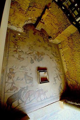Orpheus mosaic - Image: Villadelcasale 473