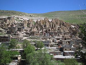 Kandovan, Osku - A view of Kandovan rock houses.