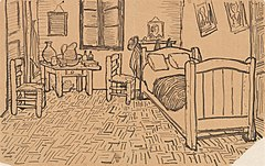 Vincents Schlafzimmer in Arles - Wikiwand