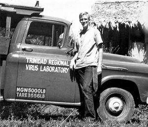 Rockefeller Foundation - Trinidad Regional Virus Laboratory Field Assistant, Nariva Swamp, Trinidad. 1959