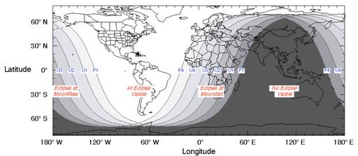 Visibility Lunar Eclipse 2019-01-21