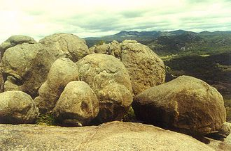 Girraween National Park - Granite outcrops are a feature of the park.