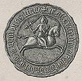 Vitaŭt Vialiki, Pahonia. Вітаўт Вялікі, Пагоня (K. Kielisiński, 1426, 1842).jpg