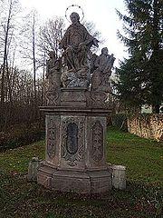 Sousoší svatého Jana Nepomuckého s andílky