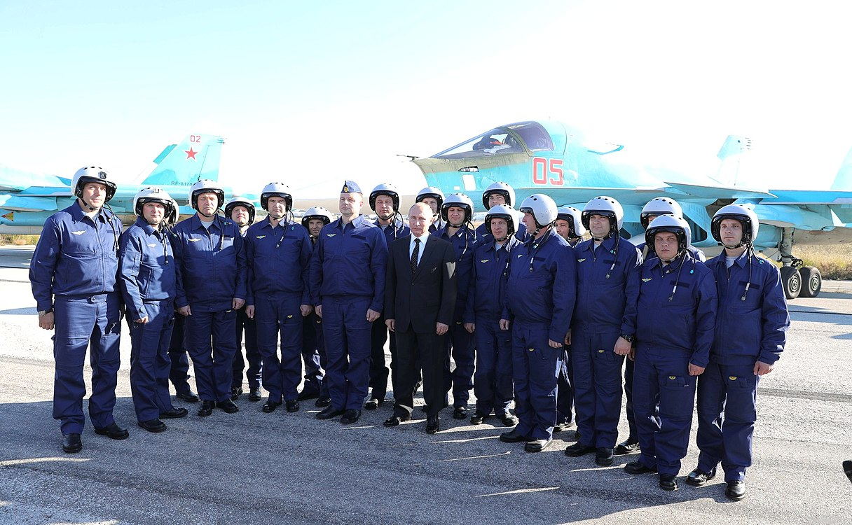 Vladimir Putin in Khmeimim Air Base in Syria (2017-12-11) 23.jpg