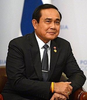 Prime Minister of Thailand - Image: Vladimir Putin meeting Prayut Chan o cha (2016 05 19) 02 cropped 1