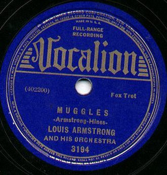 Vocalion Records - Vocalion record by Louis Armstrong
