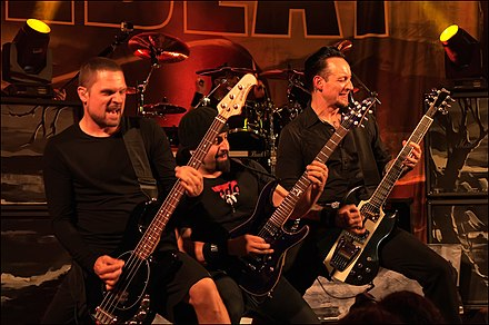 Volbeat performing in 2013 Volbeat 2013.jpg