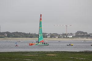 Volvo Ocean Race 2012 in Lorient - Groupama 4 in the roadstead of Lorient.JPG