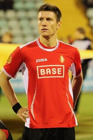 Sébastien Pocognoli - Pocognoli playing for Standard Liège in his second spell, having left the club in his youth career.