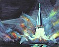 Vostok Launch by Richard Terry, 1978.jpg