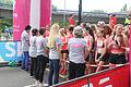 Vrijwilligsters voor de start Ladiesrun 2015.jpg