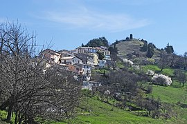 A view of the village from the valley of La Penne
