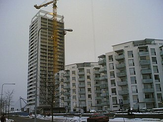 Cirrus (Helsinki building) - The high-rise is located in central Vuosaari.