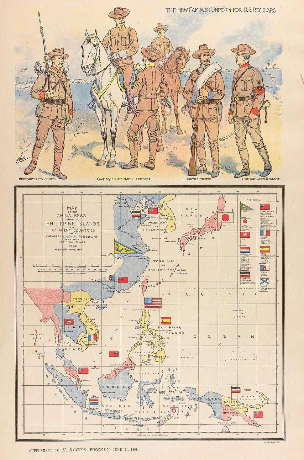 W. B. Duncan Map of the China Seas 1898 Cornell CUL PJM 1131 01