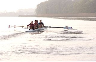 Coxless four boat class in rowing